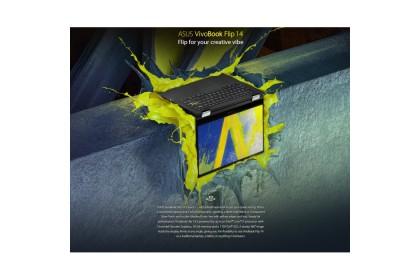 ASUS VIVOBOOK FLIP 14 TM420U-AEC551TS 14 TOUCH FHD LAPTOP Bespoke Black (  Ryzen 5 5500U/8GB/512GB SSD/W10/FREE H&S )
